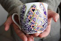 A Homemaker's Journal: handpainted handprint mugs