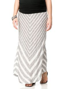 Motherhood Maternity Secret Fit Belly(r) Chevron Stripe Maternity Skirt