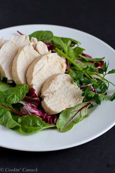 Poached chicken is fantastic to have on hand for salads, pastas and sandwiches. This tutorial will show you how to poach chicken breasts in minutes! Boiled Chicken, Poached Chicken, Chicken Meal Prep, How To Cook Chicken, Chicken Salad, Easy Meal Prep, Easy Meals, Healthy Chicken Recipes, Clean Recipes