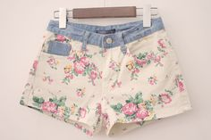 Vintage shorts so lovely Diy Shorts, Cute Shorts, Teen Fashion, Love Fashion, Vintage Fashion, Girlie Style, My Style, Pretty Outfits, Cute Outfits