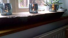 Oak votive holder