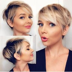 Short Hairstyles - Best Pixie Cut Hairstyle Ideas For Women 2019 . - Short Hairstyles – Best Pixie Cut Hairstyle Ideas For Women 2019 … Latest Short Hairstyles, Short Pixie Haircuts, Pixie Hairstyles, Summer Hairstyles, Pixie Haircut Fine Hair, Ladies Hairstyles, Short Blonde Pixie, Pixie Hair Color, Pixie Haircut For Round Faces