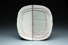 Striped Fade Plate - Todd Hayes Love the combination of thrown and hand built