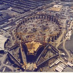 Flashback… 1974-1975 Construction du Stade Olympique… montreal