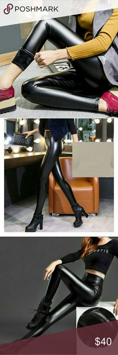 🆕Faux leather women leggings Sexy and hot faux leather Women's leggings .super stretchy and perfect for sexy and casual looks.  100 %brand new unused without tags and never used.😄😄😄😄😄😄 new Other