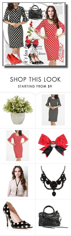 """""""set 86"""" by fahirade ❤ liked on Polyvore featuring WithChic, Nintendo, Gucci, Kate Spade and Balenciaga"""