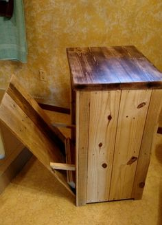Pallet Wood Trash Storage/microwave Stand $75. Call Us At Rustic Decor U0026  More