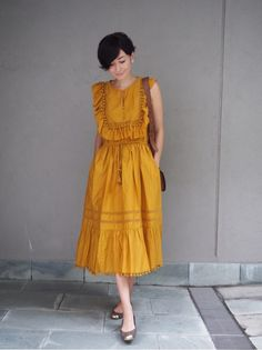 {4D820B2B-92C8-41A6-AAFF-D731506B1DE9}田丸さん Diy Clothes Design, Runway Fashion, Fashion Outfits, Casual Dresses, Summer Dresses, Looks Vintage, One Piece Dress, Fashion Sewing, Comfortable Outfits