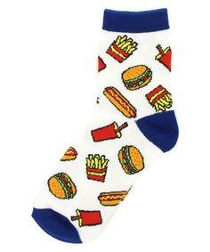 Hamburgers french fries and hotdog socks. Too cute!