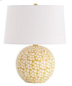 mustard dot porcelain table lamp  http://rstyle.me/n/bq6sjpdpe