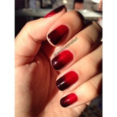 """A red-to-black ombre keeps with the spirit of the show.   21 """"True Blood"""" Inspired Manicures That Will Bring Out Your Inner Vampire"""