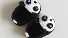 Free Crochet Pattern - Panda Baby Booties