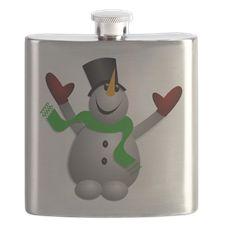 A Happy Snowman Flask