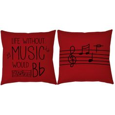 So funny and true! Musicians, show your love for song with these music throw pillows. They make decorating fun and easy. #roomcraft