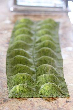 Spinach Ravioli (via Handle the Heat)