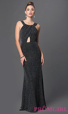 Long Formal Gown with Keyhole Cut Out at PromGirl.com