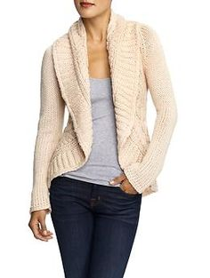 Cable Knit Wrap Sweater by Theme