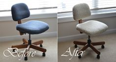 DIY Recovering An Office Chair - Made By Meg – Blog