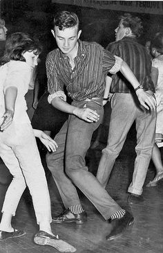 twist - American Bandstand taught us how to twist by watching the dancers. It was the rage when I was about 9