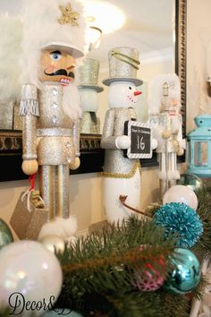 Christmas mantel nutcrackers