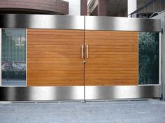34 Amazing Steel Gate Design Ideas Match With Any Home Design - The purpose of home security gates is simple. They increase the level of security of the property and help to keep the family safe. They can enhance t. Home Gate Design, House Main Gates Design, Grill Gate Design, Steel Gate Design, House Front Design, Small House Design, Door Design, Iron Main Gate Design, Modern Main Gate Designs