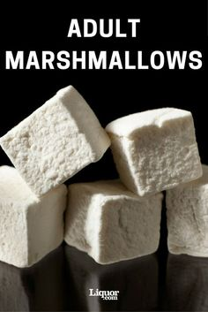Marshmallows How to Make Boozy Marshmallows: This campfire favorite gets an adult twist. Do some molecular gastronomy at home.How to Make Boozy Marshmallows: This campfire favorite gets an adult twist. Do some molecular gastronomy at home. Alcohol Recipes, Candy Recipes, Sweet Recipes, Dessert Recipes, Drinks Alcohol, Recipes With Marshmallows, Homemade Marshmallows, Marshmallow Recipes, Slushies