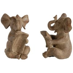 Set of 2 Elephant Bookends. Size: 10.92 X 10.16 X 15.24cm