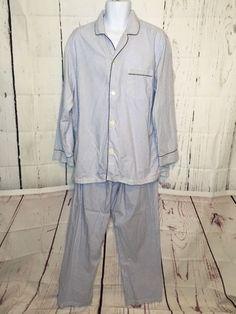 f5b64eaa1b03 BROOKS BROTHERS Men Cotton Pajama PJs Shirt Pants Large  fashion  clothing   shoes  accessories  mensclothing  sleepwearrobes (ebay link)