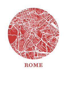 Rome Carte Estampe ville carte affiche par OMaps sur Etsy Map Design, Graphic Design, Rome Map, City Map Poster, Italy Map, Paris Map, City Maps, Photoshop, Planer