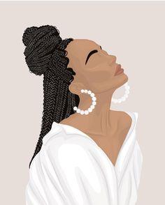 Beautiful Black Girl, Black Girl Art, Black Women Art, Black Girl Magic, Art Girl, Portrait Illustration, Digital Illustration, Bb Beauty, Black Art Painting