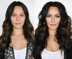 I loved getting a chance to makeover this stunning woman. As you can see, she looks perfect without a stitch of makeup! I really wanted to do something exotic with creamy darklids and natural lip…