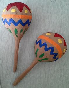 Mexican Maracas - messy, but kids would love it... maybe in the summer?