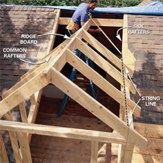 to Frame a Gabled Dormer Add dormers to the roof for light and extra space.Add dormers to the roof for light and extra space. Attic Renovation, Attic Remodel, Attic Conversion, Loft Conversions, Attic Rooms, Attic Playroom, Attic Bathroom, Attic Office, Attic Closet
