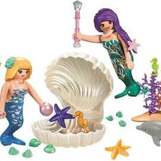playmobil – ToyRoo - Magical World of Toys! Underwater World, Starfish, Dolphins, Carry On, Mermaid, Disney Princess, Disney Characters, Toys, Playmobil