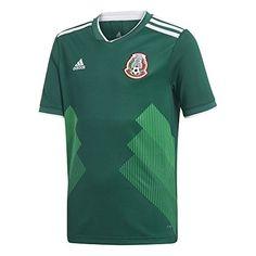 adidas Youth Mexico 2018 Home Replica Jersey Green White ... https   0ae8da415c65f
