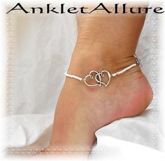 Costume Jewellery 925 Sterling Silver Heart Foot Bracelet Feet Chain Ankle Bracelet Jewelry Chains Relieving Rheumatism And Cold