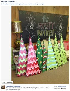 I love these super adorable christmas trees. Perfect for decorating the yard! from The Mailman's Daughter in boston, ga | aliceandjay.com