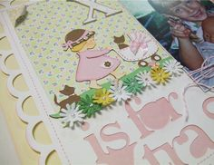 Cricut Kate's ABCs: X is for Xtra sweet - little girl pushing baby carriage with kittens