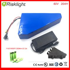 Triangle Type E bike Battery E Scooter Battery 60V 20ah Electric Bicycle Lithium Battery Pack for E Bicycle For Panasonic Cell