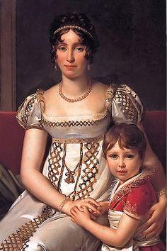 1806 (estimated) Hortense de Beauharnais with her son Napoleon Charles Bonaparte byFrançois-Pascal-Simon Gérard(private collection)