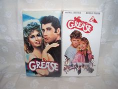 Grease 1 and 2 VHS 2 Movies John Travolta Michelle Pfeiffer