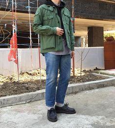 "Reposting @iam_nurimon: ... ""- #engineeredgarments #anatomica  집순이는 블로그가 힘들어.."" Mode style fashion outfit ootd streetstyle mode inspiration tenue homme"