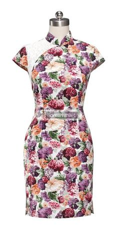 #idreammart Mini Chinese Dress Qipao Lace Shoulder Cheongsam! - iDreamMart.com