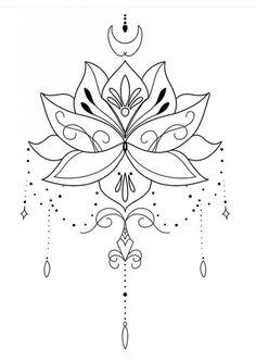 Underboob Tattoo, Hamsa Tattoo, Mandala Tattoo, Mini Tattoos, Body Art Tattoos, New Tattoos, Tattoo Designs, Lotus Tattoo Design, Brust Tattoo Frau