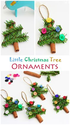 Little Christmas Tree Ornaments