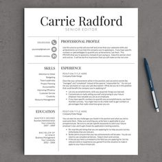 Best Resume Templates Word Fresh Professional Resume Template for Word & Pages Resume Help, My Resume, Resume Format, Resume Tips, Resume Writing, Sample Resume, Cv Tips, Cv Guide, Visual Resume
