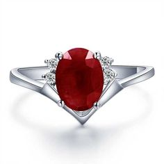 ruby diamond engagement rings | Home > Gemstone Rings > Affordable Ruby and Diamond Engagement Ring on ...