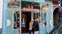 Duboce Triangle — San Francisco Travel - Well-designed and continually updated windows give a clue as to what you'll find inside National Product.  Photo by Jeff Hunt, special to SF Gate