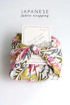 Japanese Fabric Gift Wrapping Technique - from Frock Files