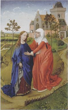 Visitation of Mary, 1440-1445 - Rogier van der Weyden